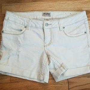 Mudd White Denim Shorts. Size 11(fits like a9)
